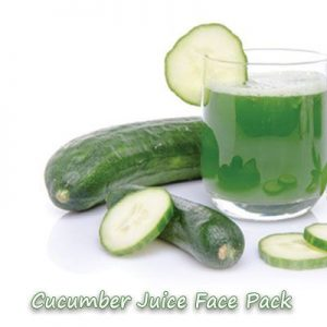 cucumber face pack for sunburn in summer