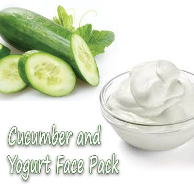 cucumber face pack for sunburn in summer