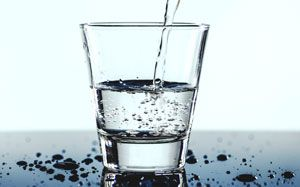 Dehydration caused by less water intake
