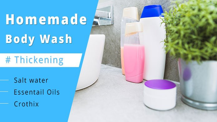 how to thicken homemade body wash